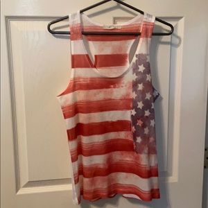 🔹2/10 Forever 21 American Flag Tank size Small